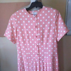 Vintage Talbot Womens short sleeve Pink button dow